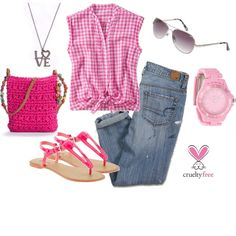 """""""Pink summer"""" by pbmhuck on Polyvore"""