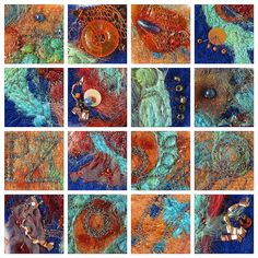 textiles inspired by rusty Cornish fishing boats by Love Stitching