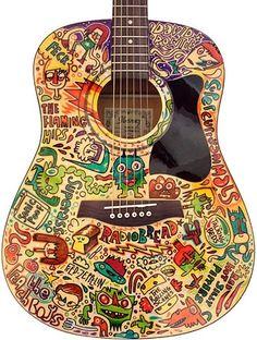 Art doodled Guitar