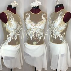 Simply dreamy ivory lyrical dance costume.