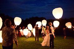 Best of Weddings 2013 - Virginia Wedding Photographer Wedding Send Off, July Wedding, Wedding Wishes, On Your Wedding Day, Dream Wedding, Wish Lanterns, Floating Lanterns, West Virginia Wedding, Country Wedding Decorations