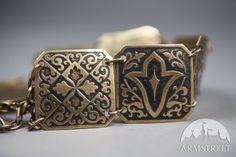 Exclusive Etched Women's Brass Belt