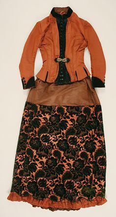 1886 Walking Dress Culture: American Medium: silk