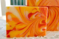 Silk Soap Recipe by Soap Making Essentials // Coconut oil, shea butter, olive oil, castor oil, silk peptide Soap Making Recipes, Homemade Soap Recipes, Homemade Beauty, Diy Beauty, Savon Soap, Handmade Soaps, Diy Soaps, Bath Soap, Cold Process Soap