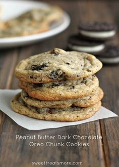 Peanut Butter Dark Chocolate Oreo Chunk Cookies