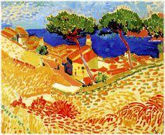 André Derain - Vue de Collioure 1905 fauvism ericka