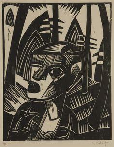 Karl Schmidt-Rottluff, (1884 -1976) was een Duitse expressionistische kunstschilder. Vanaf het begin van de jaren twintig begint hij figuren te vereenvoudigen en gaat hij fellere kleuren gebruiken. Bij de opkomst van de nazi's trekt hij zich terug aan de Oostzee. Rottluff krijgt  in 1941 een schilderverbod opgelegd.  ' Uw schilderijen dragen niet bij aan de vooruitgang van de Duitse cultuur en U bent nog ver verwijderd van de culturele grondvesten van de nazi staat'