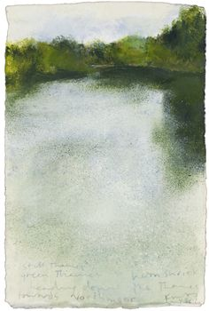 Still Thames, green Thames. May 2013 in KURT JACKSON from The Redfern Gallery