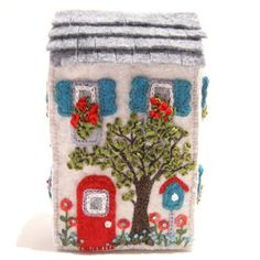 Soap Box House Miniature Hand Embroidered van TwoLeftHands op Etsy