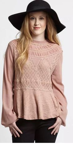 Free People English Rose Swit Festival Top In Mauve SZ XS EXCELLENT CONDITION #FreePeople #Peplum #AnyOccasion