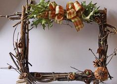 made from sticks, twigs, etc