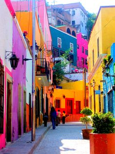 Most colorful street in Guanajuato, Mexico-photo taken by Sandy Robert