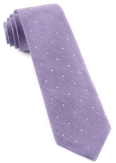 Personalized Purple and White Saville Tie with Embroidered Initials