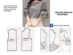 # Sewing # Clothes # Sewing Techniques # Makeup # Dresses_Magic # Manto # Art # Girls_Mad # Health_L Dress Sewing Patterns, Blouse Patterns, Clothing Patterns, Blouse Designs, Sewing Sleeves, Sewing Pants, Costura Fashion, Sewing Blouses, Fashion Sewing