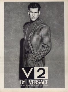 V2 by GIANNI VERSACE Fall Winter 1992 featuring PAUL LOCATELLI