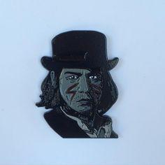 "#Repost @mood_poison  New pin now up!!!! ""Stupid White Man"" pin from Jim Jarmusch's Dead Man on heavy duty black dyed metal. Limited edition $10. Shop link in bio. #deadman #johnnydepp #jimjarmusch #stupidwhiteman #pingame #pincommunity #pinlove #newrelease #enamelpin #lapelpin #moodpoison"