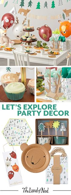 Make your future explorer's birthday party a blast with tons of outdoor themed décor and party supplies.