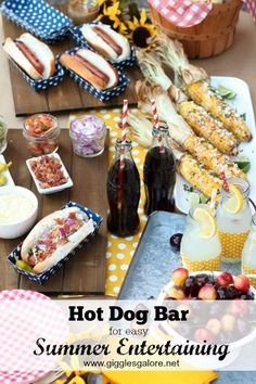 Hot Dog Bar for Easy
