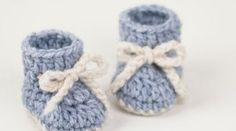 Crochet Baby Booties Winter Snowflake