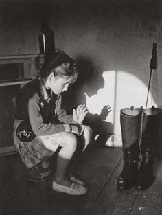 Young Kate Bush playing with shadow by John Carder Bush