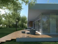 Individual modern Architectural design and concepts. Architecture Design, House Plans, Villa, Golf, House Design, Modern, Cubes, Architecture Layout, Trendy Tree