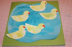 Ducks in a pond craft to go with Five Little Ducklings for an Animal Theme -- #readforgood -- from Kyetra Belton: Readathon 2012: Week 1 Animals