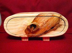 *SOLD* Reclaimed pine wood jewelry/keepsake bandsaw box for sale on eBay