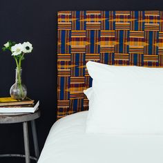 Fiorito Interior Design: Three Patterns of Africa: Kuba, Kente, and Mud Cloth African Interior, African Home Decor, Cloth Headboard, Kente Cloth, Lounge, Interior Decorating, Interior Design, Design Interiors, Farmhouse Homes