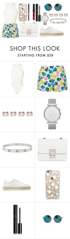 """Ghost"" by letiziiacuschieri-i ❤ liked on Polyvore featuring Yeezy by Kanye West, Draper James, Maison Margiela, Skagen, Cartier, Design Inverso, rag & bone, Casetify, Chanel and Matthew Williamson"