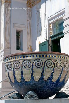 Merisi's Vienna for Beginners: Viennese Art Nouveau planter by architect Joseph Maria Olbrich  The Secession Pavilion