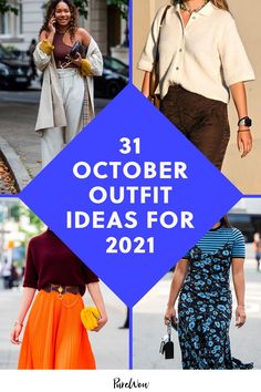 We found 31 of the most fashionable fall ladies to inspire your wardrobe choices all October long. 31 days, 31 fresh style ideas, let's do this. #fall #fashion #outfits October Outfits, Night Outfits, Work Outfits, October Fashion, Plus Size Looks, Professional Attire, Business Casual Outfits, Street Style Looks, Color Trends