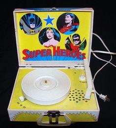 Superhero Record Player.