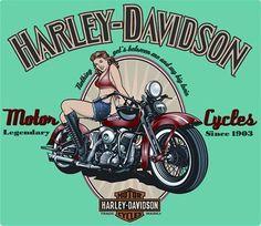 Harley Davidson Pin Up Girl Sign,Sportster,Road King,Bobber,Chopper,V Twin on eBay!