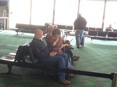 Reading at the Seattle Airport.