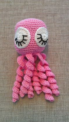Crochet Patterns Funny Smooth and colorful: Crocheted squid Sewing Stitches, Baby Knitting Patterns, Crochet Stitches, Knit Crochet, Crochet Patterns, Crochet Hats, Funny Toys, Crochet Fashion, Learn To Crochet