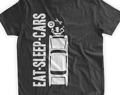 Eat Sleep Cars T-Shirt Mechanic T-shirt Classic Car by BumpCovers
