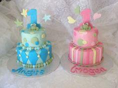 BoyGirl twin frankencake Cake and Cupcake Decorating Ideas