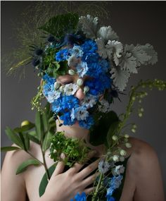 ❀ Flower Maiden Fantasy ❀ beautiful photography of women and flowers - Kristen Hatgi Sink, Marcy Blue