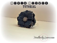 Denim Flower Tutorial::Heatherly Loves  this is an adorable gift idea with lots of uses