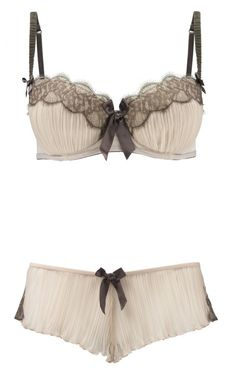 La Senza's Claudia pleat lingerie collection.  I would *die* for a bra-any undies set.  Pure pure love.                                                                                                                                                     More