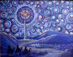 Advent Starry Night 2 - I like this; all the circles suggest the angel choir to me.