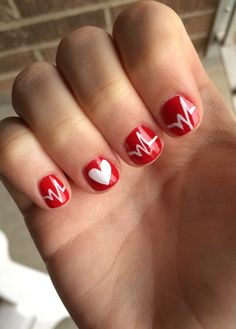 My Graduation Nails Nursing Ekg