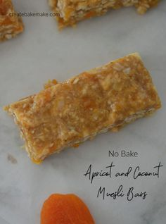 This easy No Bake Apricot Muesli Bar recipe is simple to make, and eat! These bars make a great lunch box or after school treat, and they are freezer friendly too. Both regular and Thermomix instructions included. Fun Easy Recipes, Easy Snacks, Yummy Snacks, Sweet Recipes, Amazing Recipes, Healthy Snacks, Yummy Food, Easy Lunch Boxes, Lunch Box Recipes
