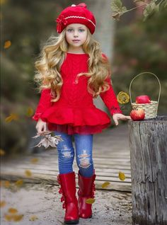 Girls Velvet Pea Coat with Bow Girls Fall Cable Knit Peplum Tutu Sweater Record of Knitting String spinning, weaving and stitching jobs such as for ins. Little Girl Outfits, Little Girl Fashion, Kids Fashion, Fashionable Little Girls, Little Girl Style, Little Girl Photos, Curvy Fashion, Fall Fashion, Style Fashion