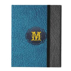 Blue and Black Leather iPad Covers