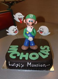 Luigi's Mansion Cake my son would love this