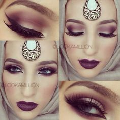 Indian/arab makeup