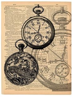Book Page Art, Book Pages, Book Art, Vintage Art Prints, Vintage Maps, Libro Gravity Falls, Coffee Cup Art, Newspaper Art, Vintage Pocket Watch