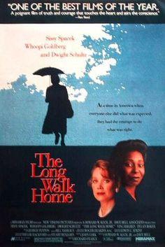 The Long Walk Home (1990) Review Dwight Schultz, Whoopi Goldberg, The Best Films, Great Movies, Image Cinema, Bus Boycott, Ving Rhames, Sissy Spacek, Netflix Streaming