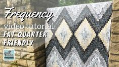 Stephanie from Quilt Addicts Anonymous shares a modern bargello-style quilt pattern called Frequency that looks complicated, but is actually very easy and FUN to sew, even for beginner sewers. This quilt features. Hand Quilting Patterns, Quilt Square Patterns, Easy Quilt Patterns, Free Motion Quilting, Quilting Tutorials, Quilting Designs, Quilting Tips, Charm Pack Quilts, Bargello Quilts